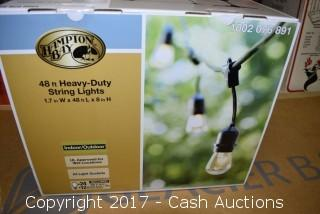 Hampton Bay 48' Indoor/Outdoor Heavy Duty String Lights