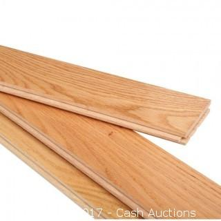 (10 Cases) Bruce American Originals Natural Red Oak Varying Lengths Solid Hardwood Flooring