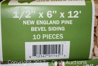 "(24 Cases) New England Pine Bevel Siding 1/2"" x 6"" x 144"""