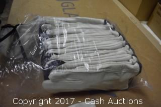 (12 Pair) L Soft Lined Leather Gloves