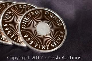 10 Troy Oz Sunshine Minting .999 Silver Coin Tube