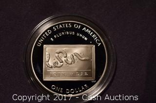 2006 Benjamin Franklin Commemorative Coin 1 Troy Oz .999 Silver