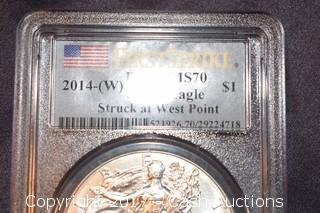 2014 W Silver Eagle PCGS MS-70 First Strike
