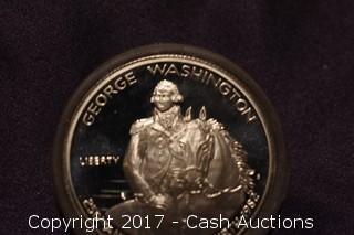 1982 .90 Silver George Washington Commemorative Proof Half Dollar
