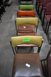 (5) Vinyl Covered Chairs