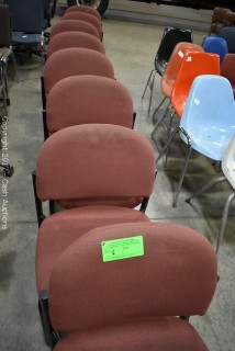 (8) Red Cloth Chairs