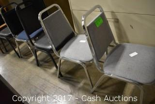 (5) Stackable Lunchroom Style Chairs