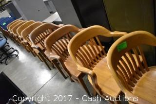 (9) Wooden Chairs
