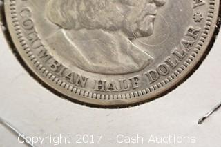 1892 Columbian Worlds Expo Half Dollar