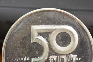 """1979 """"Mother & Child"""" Israeli Independence Day Coin 20 g .500 Silver"""
