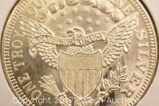 One Troy oz .999 Fine Silver Liberty Coin
