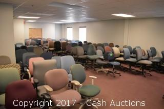 Room Filled w/ (134) Misc. Office Chairs