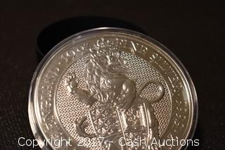 2017 Lion of England 10 Troy oz .999 Silver Coin