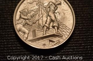 """Privateer Series """"The Plank"""" 2 Troy oz .999 Silver Coin"""