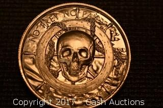"""Privateer Series """"Siren"""" 2 Troy oz .999 Silver Coin"""