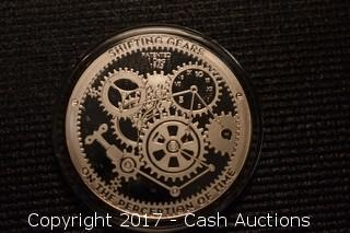 """CSW T.I.M.E. Series #1 """"Shifting Gears"""" 1 Troy oz .999 Silver Proof"""
