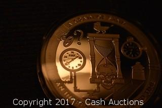 """CSW T.I.M.E. Series #2 """"Grain of Sand"""" 1 Troy oz .999 Silver Proof"""