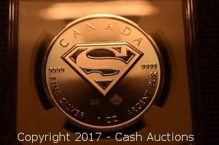 2016 Canada $5 Superman NGC MS-69 First Day of Issue