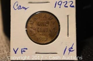 1922 Canadian Penny