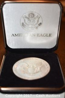 1992 American Eagle Silver Dollar in Display Box