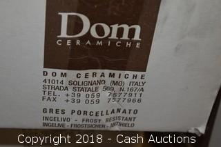 "55 Boxes of Dom Italian Ceramic 6.5"" x 6.5"" Tile (710 Sq Ft)"