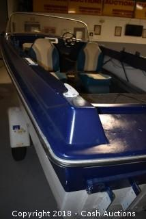 1965 MFG 16' Boat w/ 1963 Teenee Trailer
