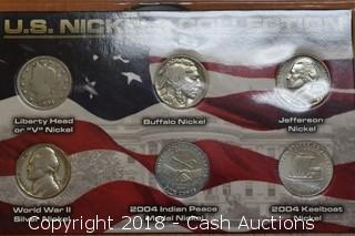 U.S. Nickels (6) Coin Set