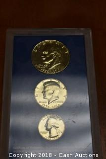 1976 24kt Gold Layered Bicentennial Three Coin Set