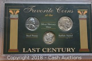 Favorite Coins of the Last Century (3) Coin Set