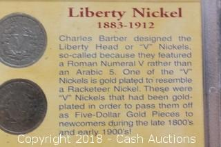 Coins of the American Frontier Liberty Nickel (4) Coin Set