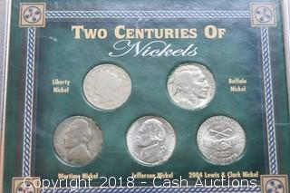 Two Centuries of Nickels (5) Coin Set