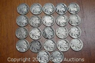 Lot of (22) Misc. Unknown Date Buffalo Nickels