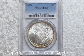 1879 PCGS Rated MS-62 Morgan Silver Dollar