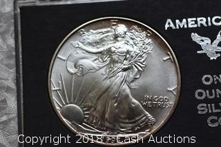1993 Silver Eagle 1 Troy Oz .999