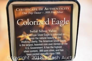 2000 Colorized Silver Eagle 1 Troy Oz .999