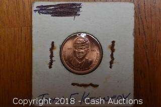 1917 - 1963 John F. Kennedy Copper Token