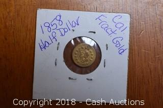 1858 California Gold Rush Fractional Replica