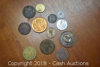 Lot of (12) Misc. Tokens and Medallions - A
