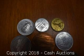 Lot of (12) Misc. Tokens and Medallions - D