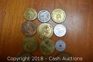 Lot of (12) Misc. Tokens and Medallions - E