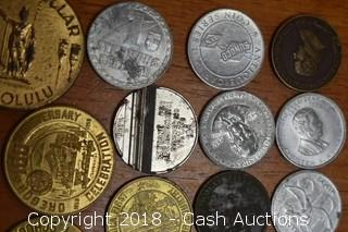 Lot of (12) Misc. Tokens and Medallions - F