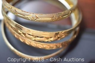 Lot of (5) Bangle Bracelets