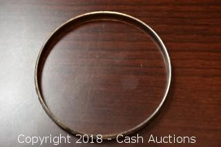 Single Silver Toned Bangle Bracelet