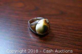 Sterling Silver Faux Stone Ring