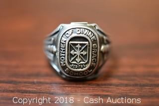 1963 Mother of Divine Grace School Ring .925