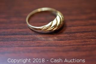 Small Gold Toned Solid Cast Ring