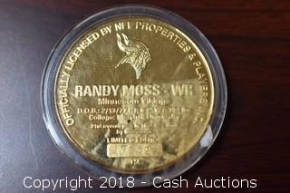 Official NFL Randy Moss Medallion