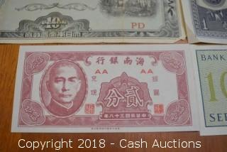 Lot of (4) Foreign Bank Notes