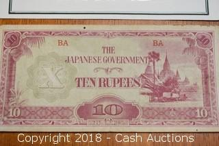 Japanese Govt. Ten Rupee Foreign Bank Note