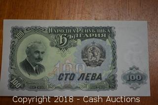 1944 Bulgarian Foreign Bank Note